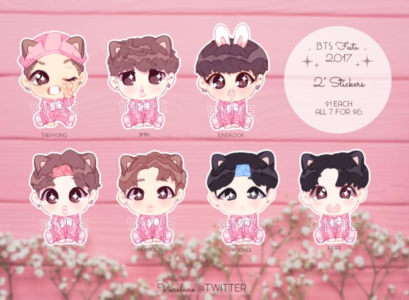 BTS stickers by KokoTensho