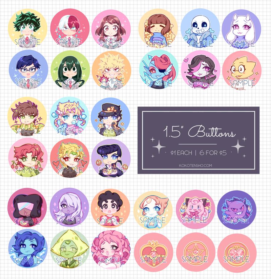 1.5 In Buttons by KokoTensho
