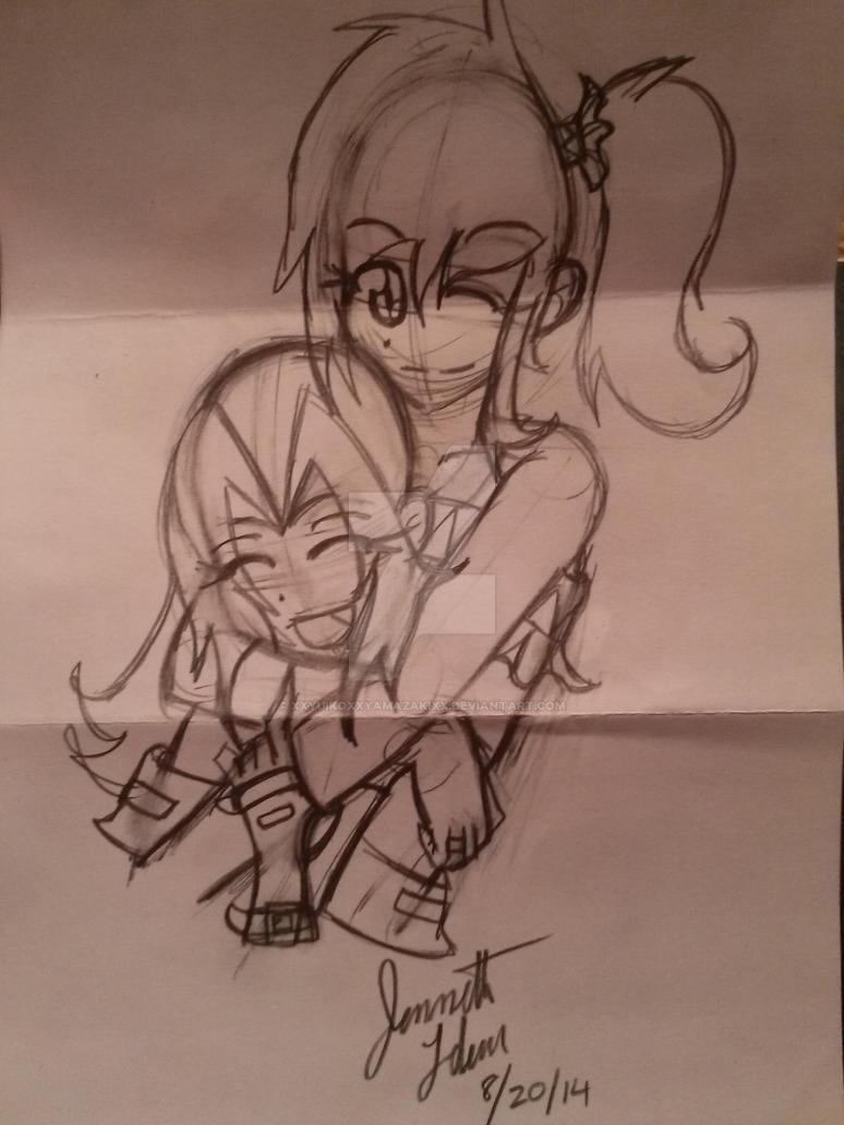 me and my pen pal tina by xxyuikoxxyamazakixx