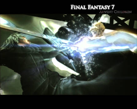 Advent Children Fight Scene