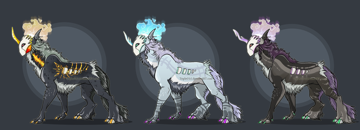 Magical Creature designs set -1- by TripletNr2