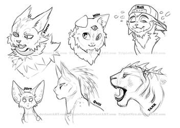 The slightly odd bunch of cats -WIP-