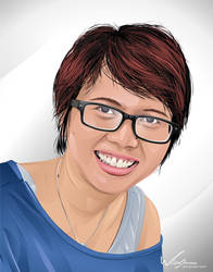 glasses girl by widjana