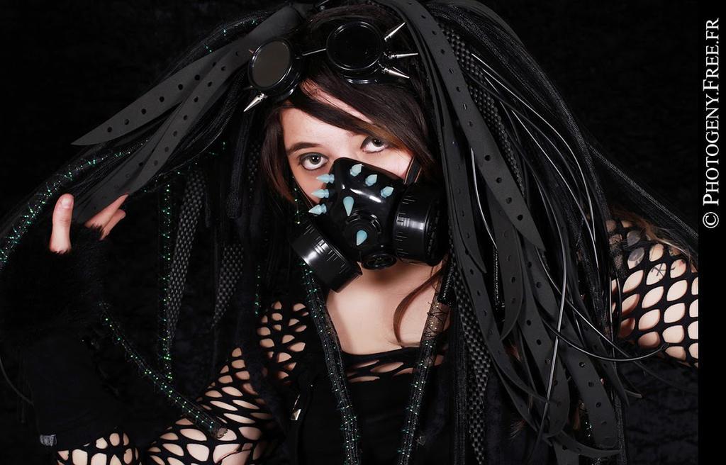 Cyber goth black girl yuniie zephira industrial by yuniienekochan voltagebd Images