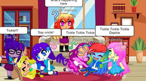 Tickle fight