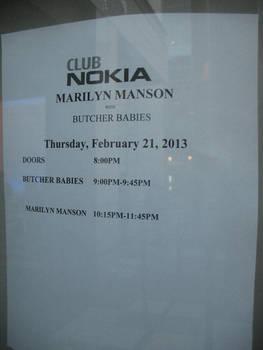 Club Nokia 'Marquis': Marilyn Manson