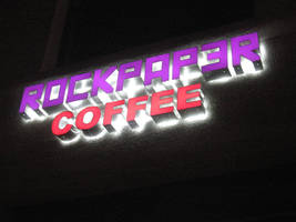 Rockpaper Coffee Sign