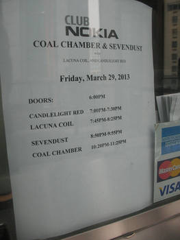 Club Nokia Sign: Coal Chamber