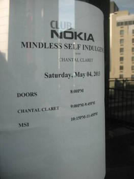 Club Nokia Sign: Mindless Self Indulgence