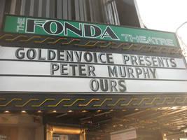 The Fonda Theatre Marquis: Peter Murphy
