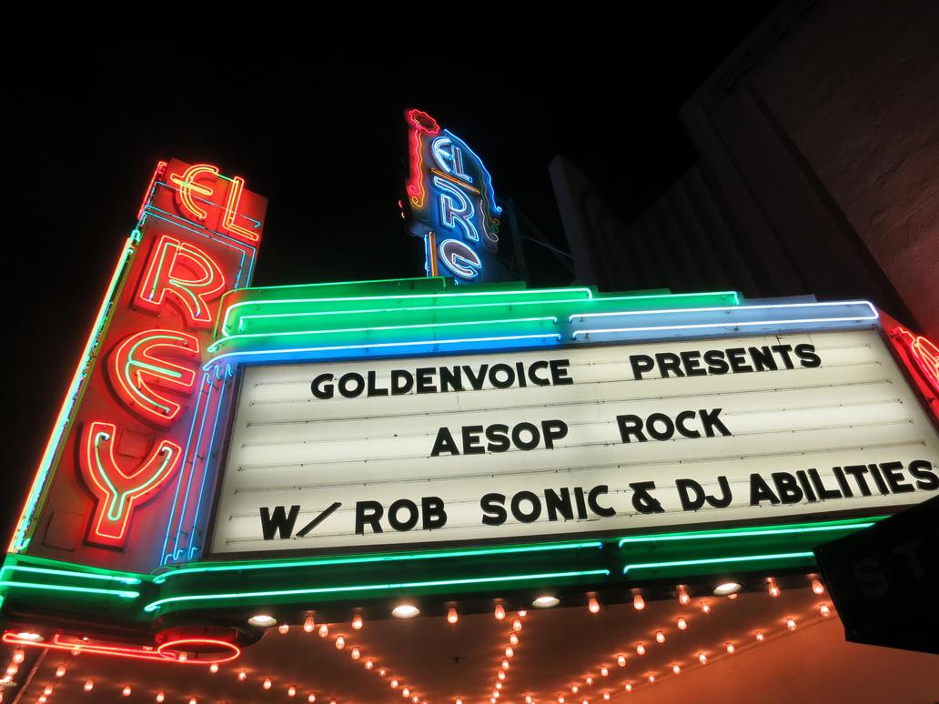 El Rey Theatre Marquis: Aesop Rock by iancinerate