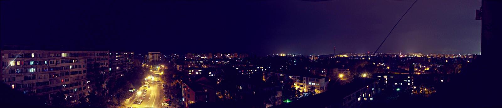 Galati at night by AlecsPS