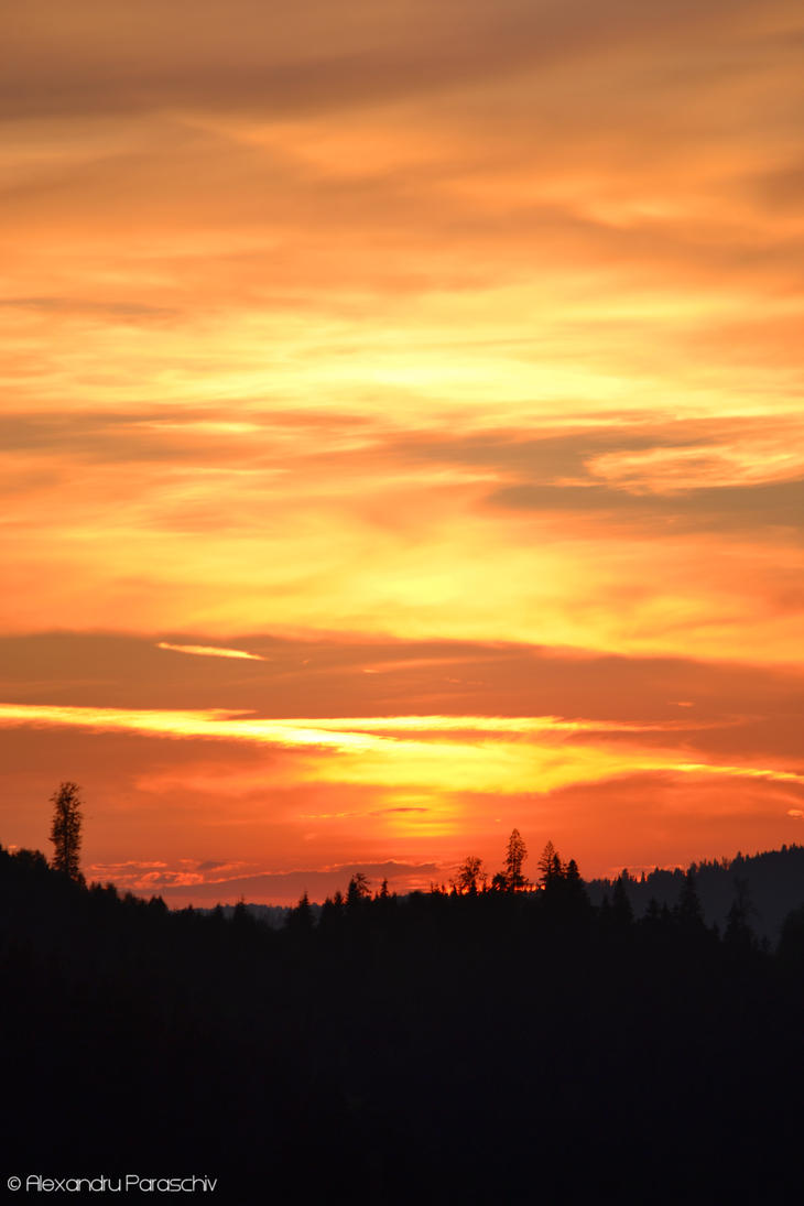 Carpathian Sunset by AlecsPS