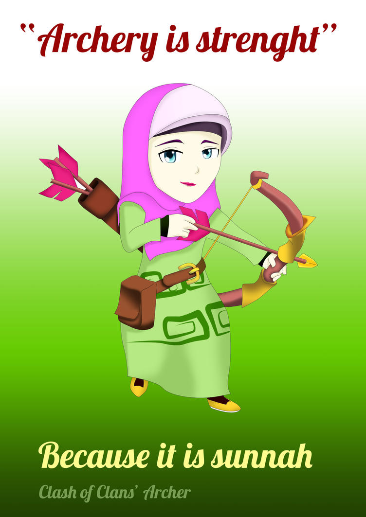 Archer coc wears hijab by arepeace abdullah on deviantart