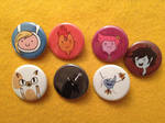 Adventure Time buttons III