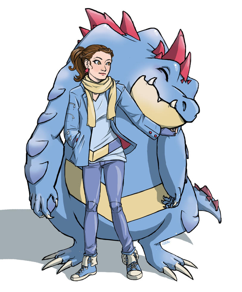 Tumblrmon Feraligatr by alliartist