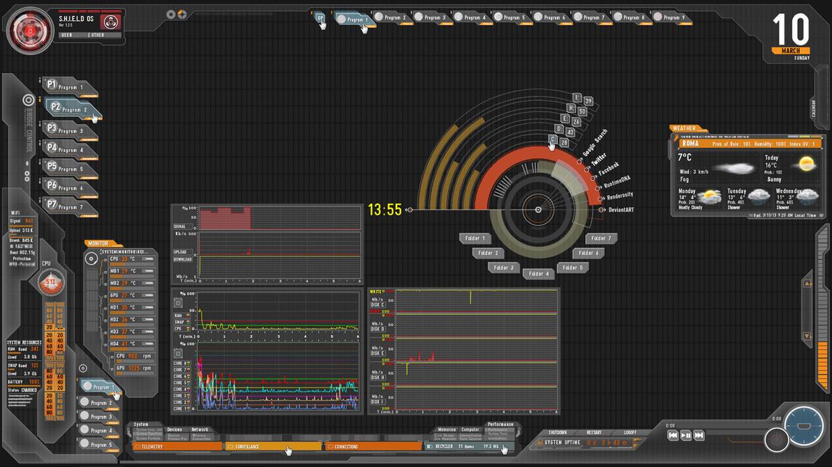 My SHIELD Desktop part 2 of 3 by Fonpaolo