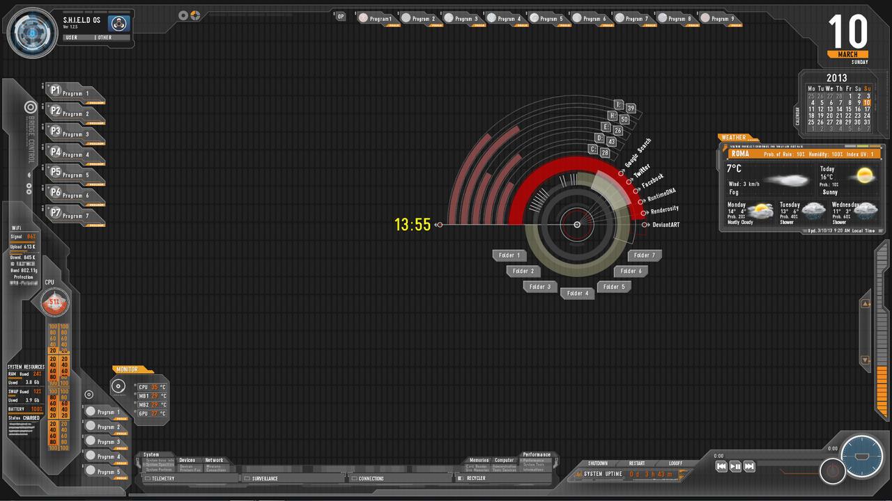 My SHIELD Desktop part 1 of 3 by Fonpaolo
