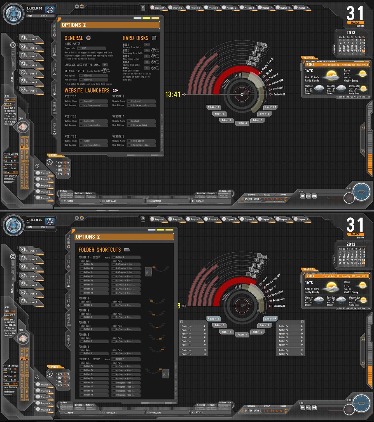 My S.H.I.E.L.D. Desktop Final (I hope...) by Fonpaolo