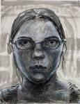 Self-portrait in three media