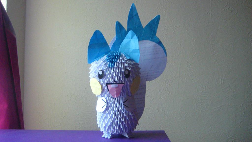 3d Origami Pachirisu By Ibeautylovely On Deviantart