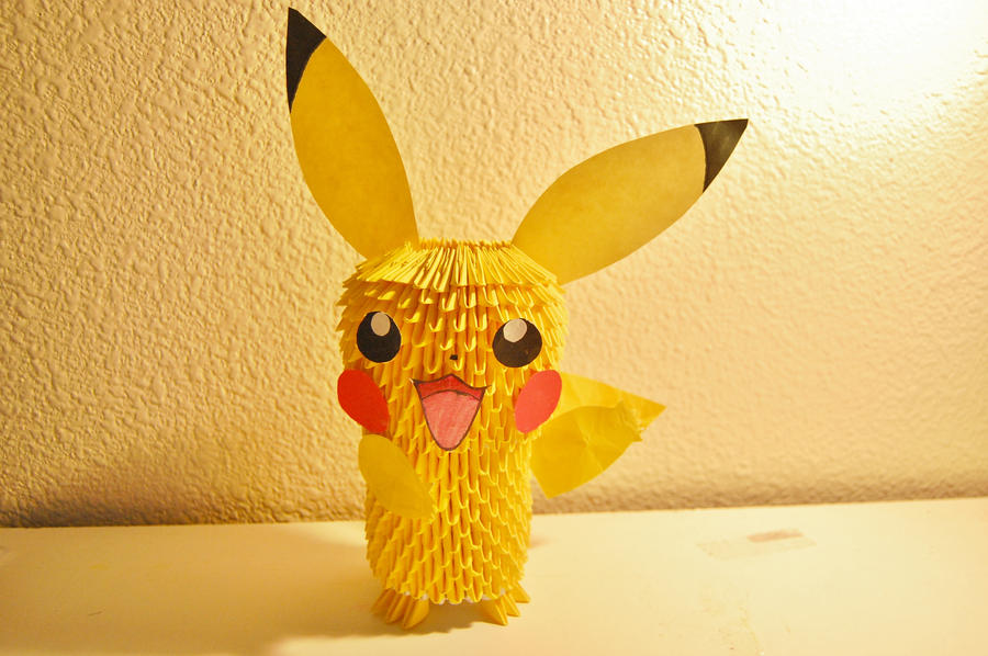 3D Origami Pikachu By IBeautyLovely