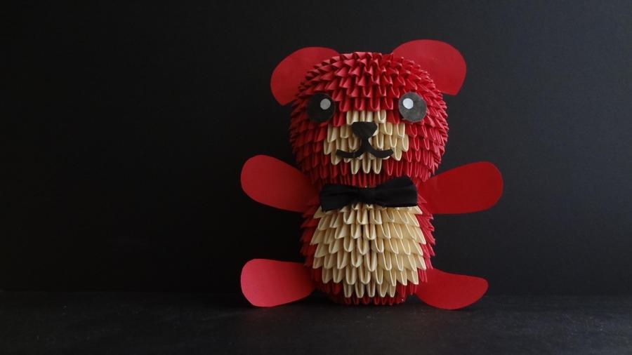 3D Origami Teddy Bear By IBeautyLovely