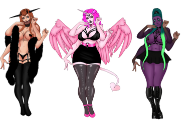 Monster Babes [CLOSED] by DeadlyHemloq
