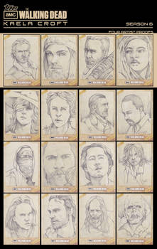 Topps AMC The Walking Dead Season 6: Sketch Cards