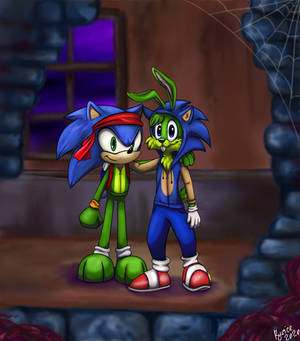Happy Halloween! Jazz Jackrabbit and Sonic