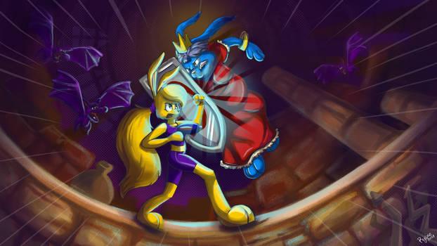 Lori vs Queen Earlong (Jazz jackrabbit fanart)