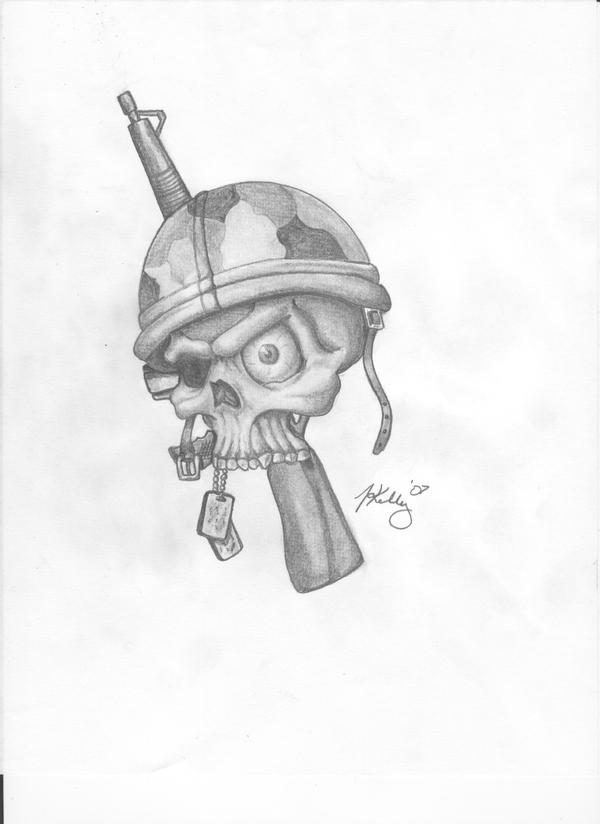 military-skull by kellyINK on deviantART
