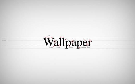 Typeface Anatomy Wallpaper