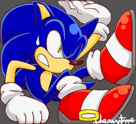 Boxed Blue Hedgehog by ihearrrtme
