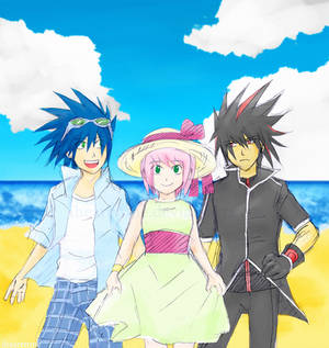 Summertime- Sonic, Amy, Shadow