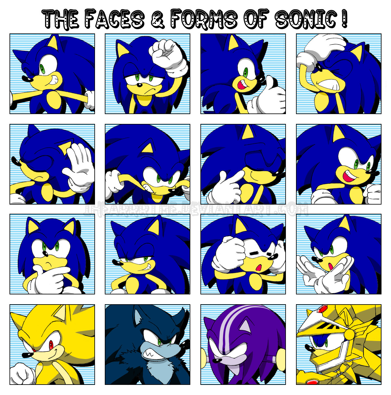 Sonic Forms: The Faces N' Forms Of Sonic By Ihearrrtme On DeviantArt