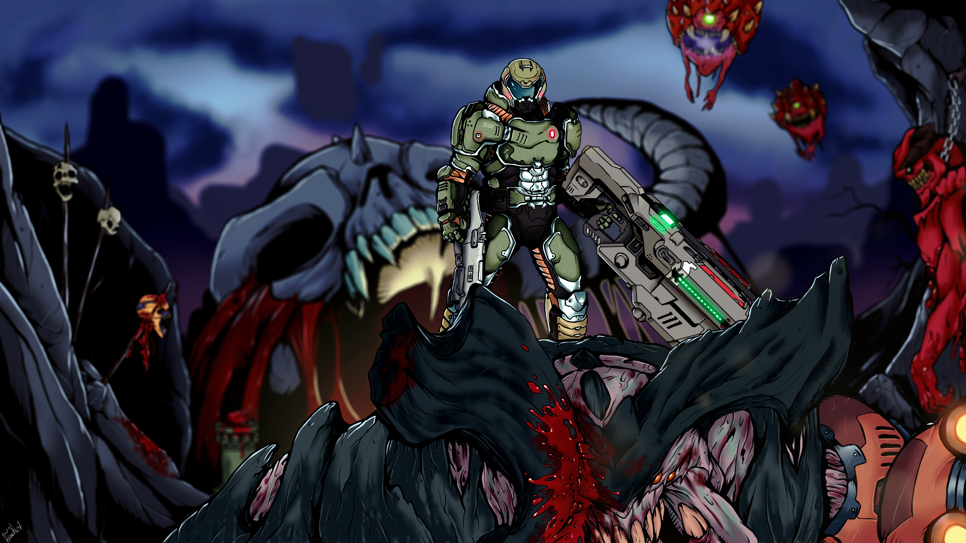 Doom 2016 Wallpaper By Brutalbloodlust On Deviantart