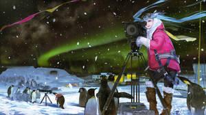 Miku in Antarctic Circle by DanEvan-ArtWork