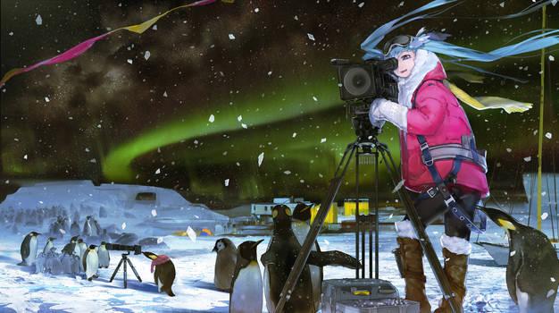 Miku in Antarctic Circle