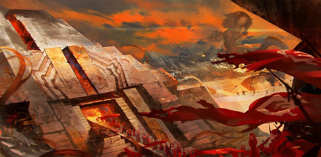 Large sand desert maze by el-zheng