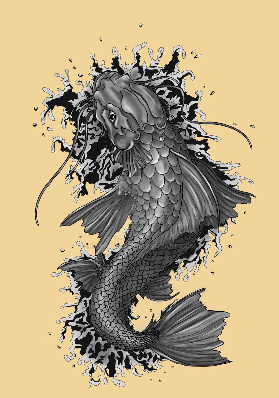 Aaron's Koi Fish by BloodBass