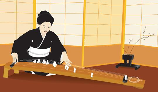 Koto player by guaharibo