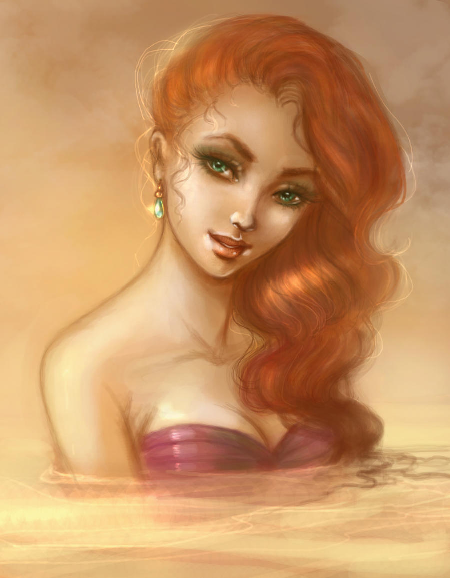 Ariel with pearl earring by Elf-in-mirror