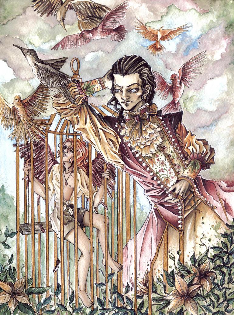 Der Vogel im goldenen Kaefig. by CharonSchwartz