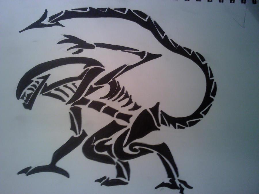 tribal Xenomorph by SirGriff
