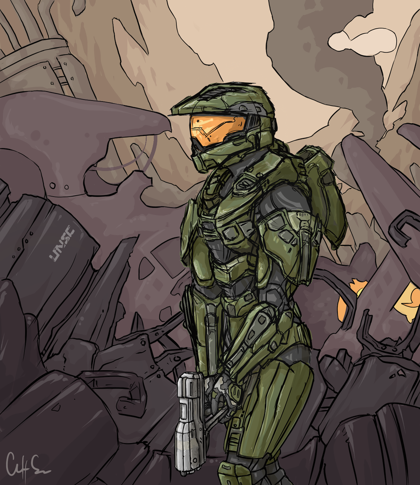 Simply Master Chief by Xertefan