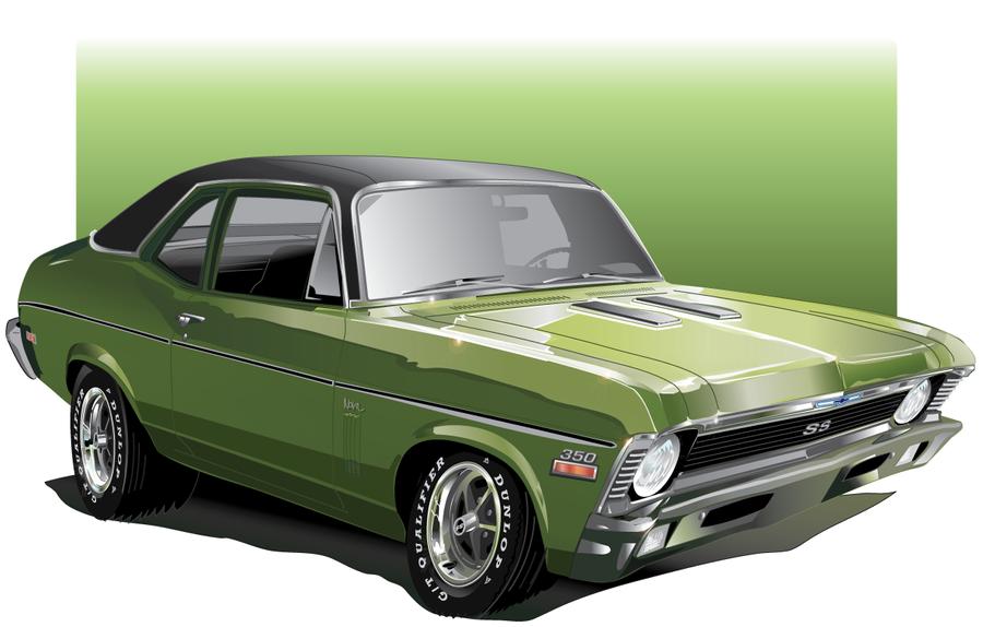 Chevy Nova Car-Toon by AdamPate
