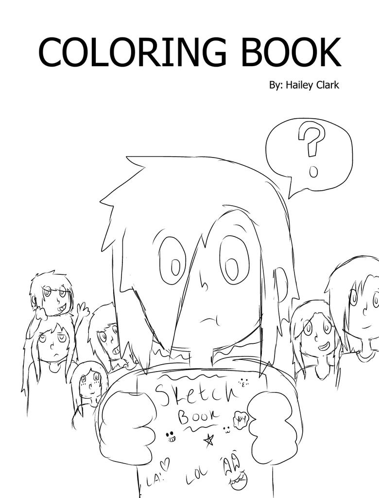Coloring book cover sketched by arrow55555 on deviantart Coloring book cover
