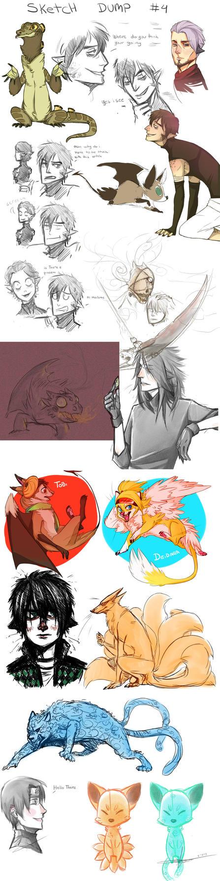Sketch Dump #4 by Kimbolt-Prime