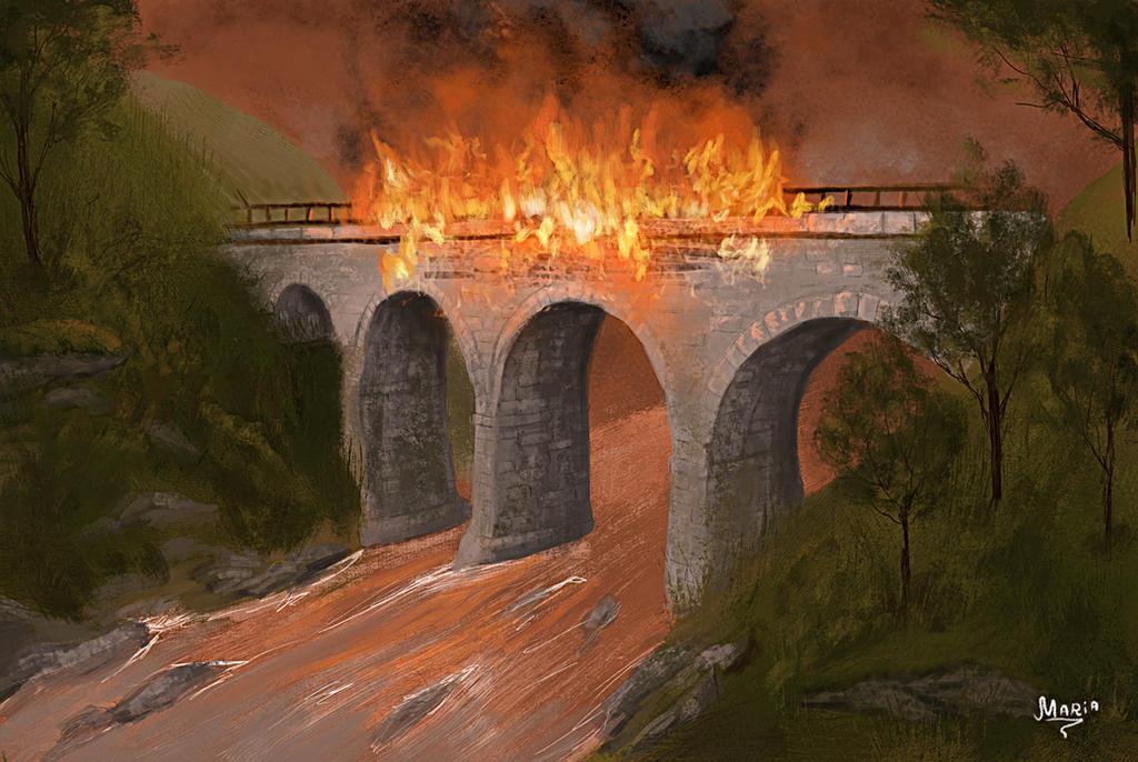 Burning Bridge by 00Maria00